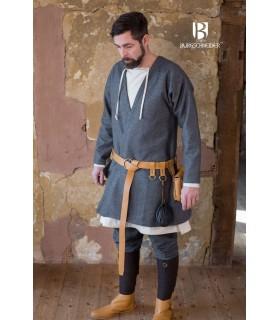 Tunique Médiévale Loki gris à manches longues