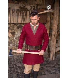 Tunique Médiévale Loki rouge à manches longues