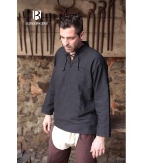 Chemise médiévale liens, Tristan, noir