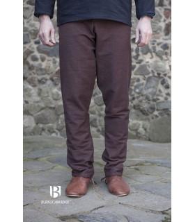 Pantalon médiéval Ragnar, brun foncé