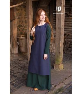 Sobrevesta Médiévale Femme Haithabu Bleu