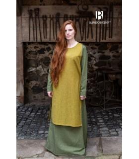 Sobrevesta Médiévale Femme Haithabu Moutarde