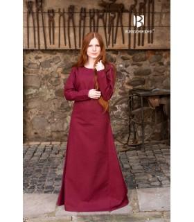 Tunique médiévale Freya, bordeaux