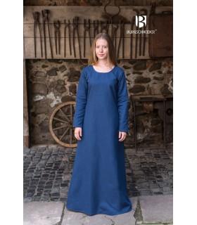 Tunique médiévale Freya, bleu