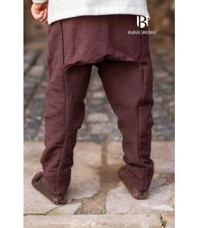 Pantalon médiéval enfant Ragnarsson, brun