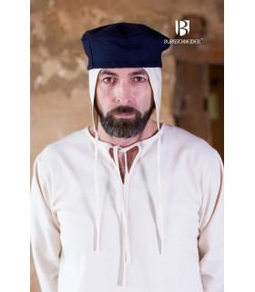Chapeau médiéval Hugo, bleu