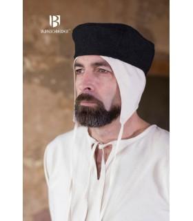 Chapeau médiéval Hugo, noir
