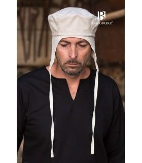 Chapeau médiéval Hugo, blanc, brut