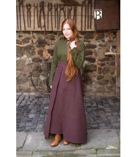 Jupe médiévale Simple, en coton marron