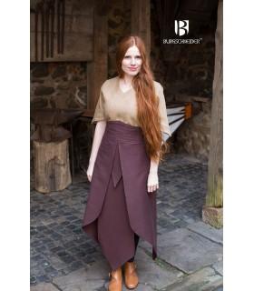 Jupe médiévale Tharya, brun coton