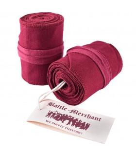 Chaussettes Filetée Médiévale Rouge