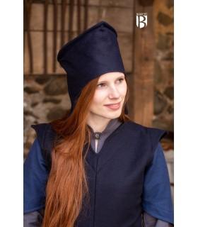 Chapeau du magicien d'adieu, de laine bleu