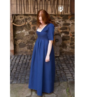 Robe médiévale Frideswinde, bleu