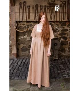 Robe médiévale Frideswinde, beige