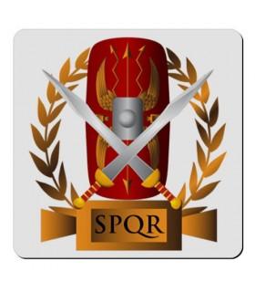 Souple aimant Carré Légion Romaine SPQR (7,4 x 7,4 cm.)
