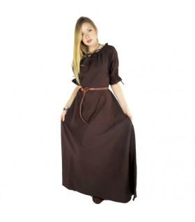 Robe médiévale Karen, brun