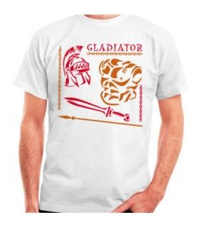 T-shirt du Gladiateur et Romaine, de manches courtes