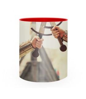 Tasse en céramique de Combat Médiéval