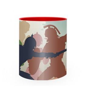 Tasse en céramique de Combat de Gladiateurs Romains