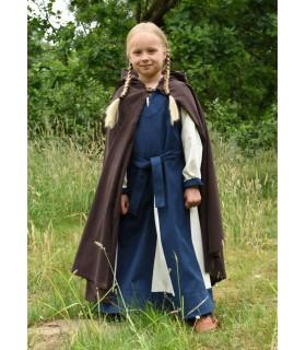 Couche médiévale pour les enfants, marron