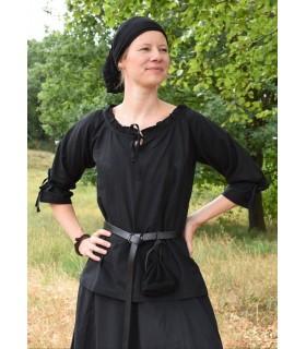 Chemisier médiéval femmes Birga, noir