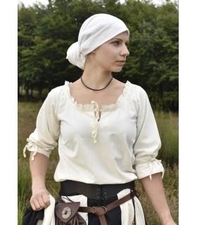 Chemisier médiéval femmes Birga, blanc