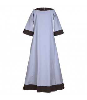 Robe médiévale Gudrun, gris-brun