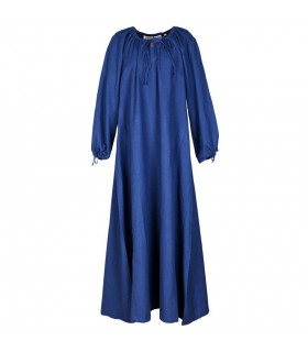 Robe médiévale Ana, bleu