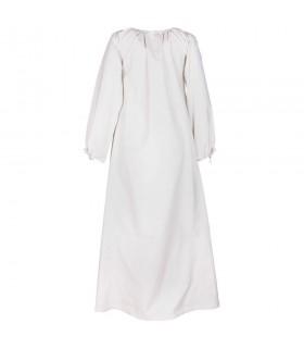Robe médiévale Ana, blanc