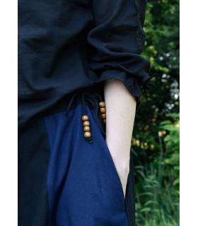 Jupe médiévale à long bleu-noir
