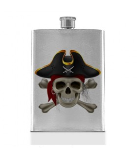 Hip flask Crâne de Pirate en Acier Inoxydable