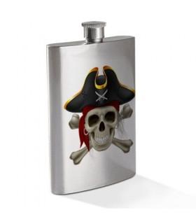 Hip flask Crâne de Pirate en Acier Inoxydable