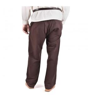 Pantalon médiéval Hagen, brun