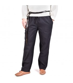 Pantalon médiéval Hagen, noir