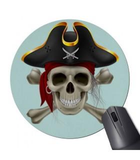 De Souris Tapis De Souris Rond Crâne De Pirate
