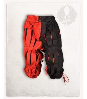 Pantalon Mercenaire Lansquenete, rouge, noir
