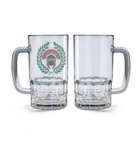 Chope de bière en Verre Centurion Romain