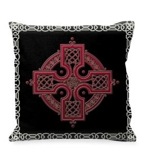 Coussin avec le symbole de la Croix Celtique