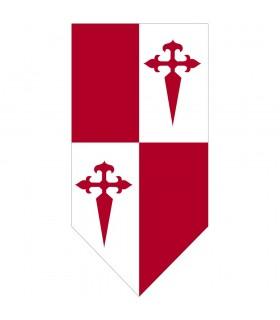 Bannière médiévale de Quartiers de la Croix de Santiago