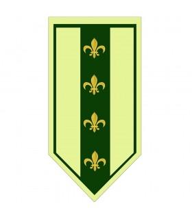 Bannière Médiévale Vert fleur-de-Lis