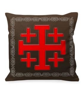 Coussin Croix de Jérusalem, Chevaliers Templiers