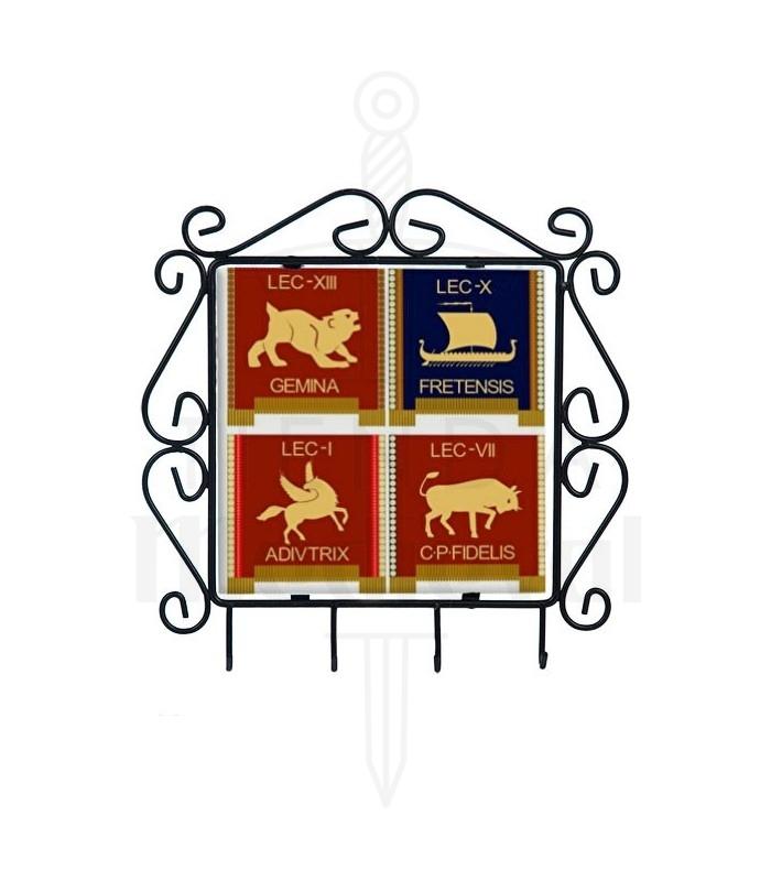 Cintre pour les touches avec les symboles des Légions Romaines