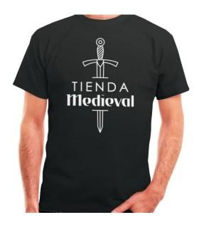 T-shirt noir-Boutique Médiévale