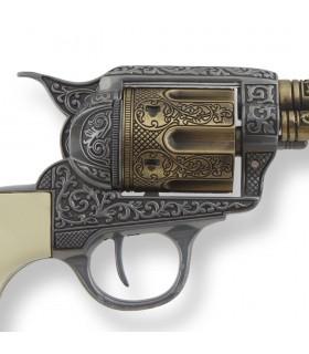 Revolver Colt 45 artisan de la paix à long manche, buffalo, 27 cms.