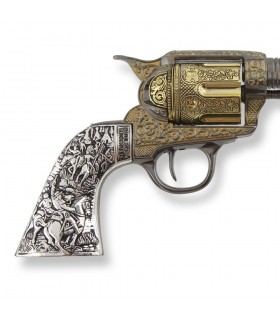 Revolver Colt 45 artisan de la paix à manche court en métal, 27 cm.