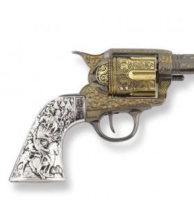 Revolver Colt 45 artisan de la paix à long manche en métal, 27 cm.