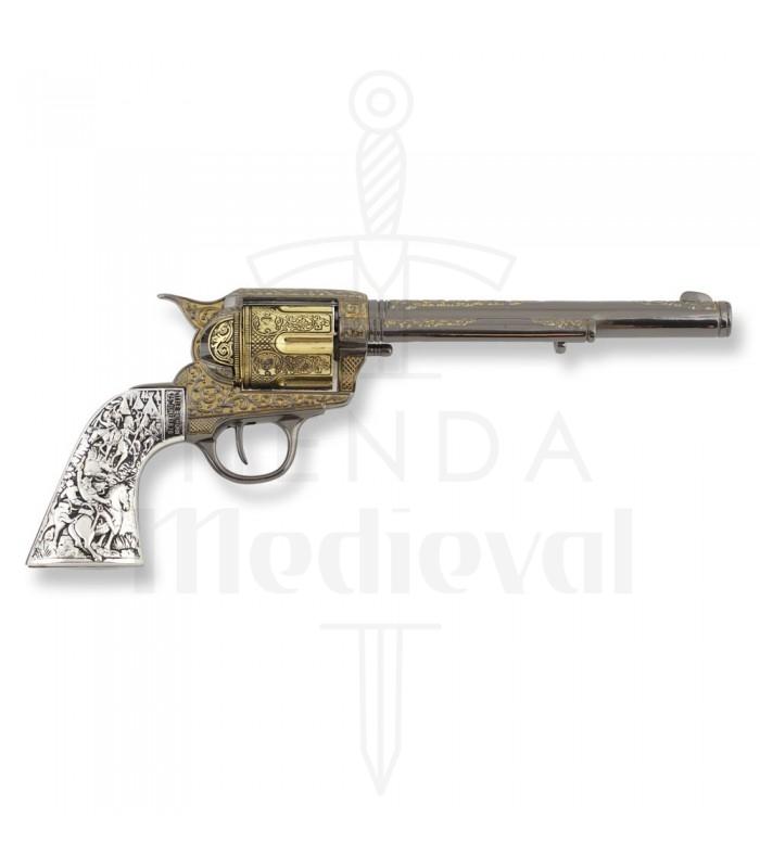 03b57186cc37 Nouveau Revolver Colt 45 artisan de la paix à long manche en métal, 27 cm.