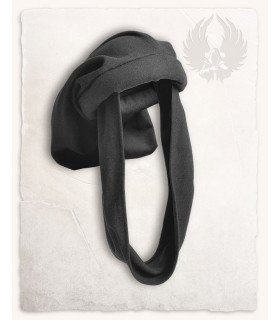 Chapeau Médiéval-Rafael en noir, Unisexe