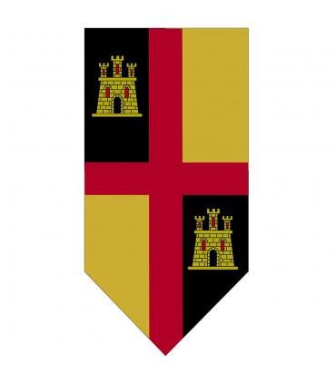 Bannière Médiévale de la Croix avec des Châteaux