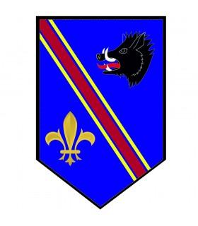 Bannière Médiévale de Sanglier à la fleur-de-lis